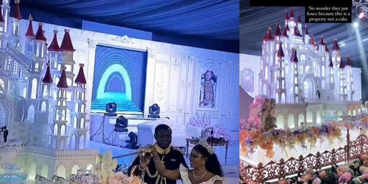 Malivelihood & Deola Smart's Wedding Cake Took N4M, 4 Months & 12 Bakers To Make