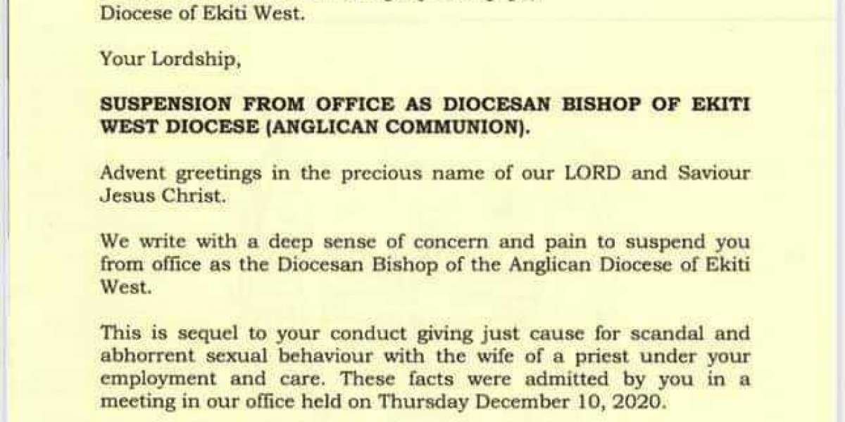 Anglican Church Suspends Bishop Adepoju For Having Sex With Reverend's Wife